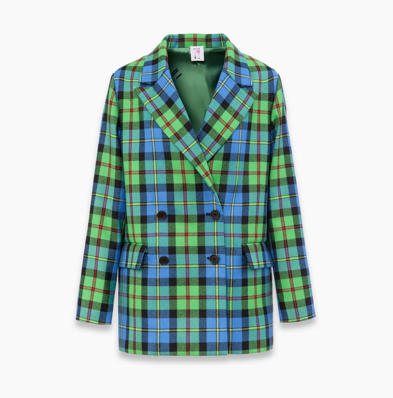 giacca donna tartan | Maffei12 Milano
