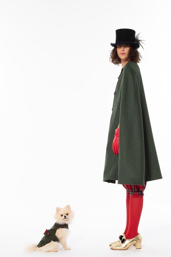 Abbigliamento loden cane e padrone