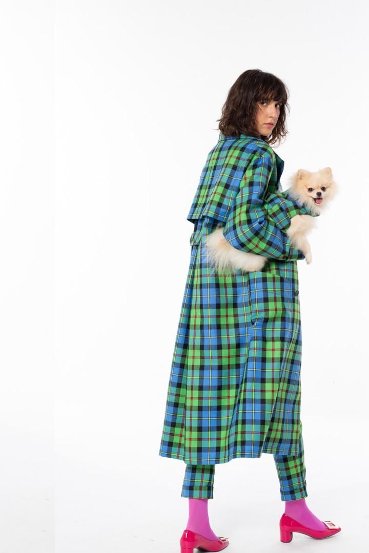 Abbigliamento tartan cane e padrone